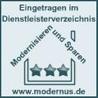 Eingetragen im Dienstleisterverzeichnis Modernisieren und sparen www.modernus.de